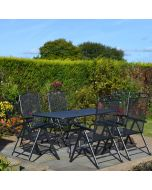 MWH Royal Garden Savoy 6 Seater Rectangular Folding Set