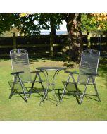 MWH Royal Garden Savoy 2 Seater Steel Folding Bistro Set
