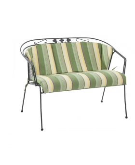 Royal Garden Elegance Bench Cushion Green Stripe