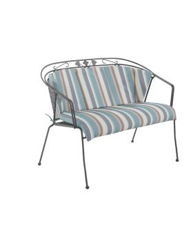 Royal Garden Elegance Bench Cushion Teal Stripe