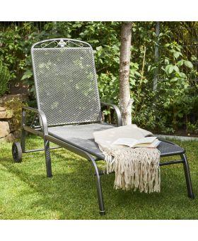 Royal Garden Savoy Steel Lounger
