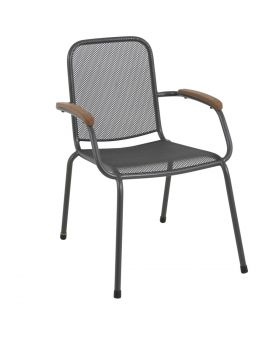 MWH Lopo Stacking Chair Black