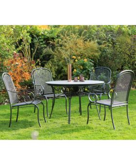 Royal Garden Caraneo 4 Seater Creatop Round Set