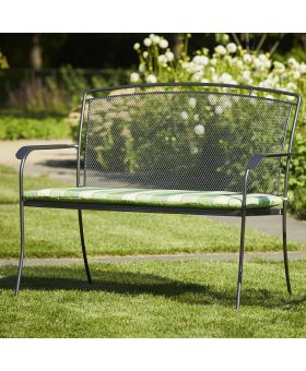 Royal Garden Classic Bench Cushion Green Stripe - 1 Left in stock