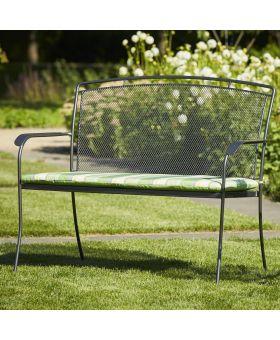 Royal Garden Classic Bench Cushion Teal Stripe