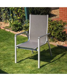 MWH Elements Silver stacking Chair x1
