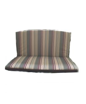 Royal Garden Classic Bench Cushion with Back- Purple