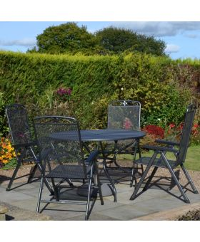 MWH Royal Garden Savoy 4 Seater 1.2m Round Folding Set