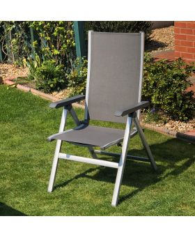 MWH Elements Silver Folding Chair x1