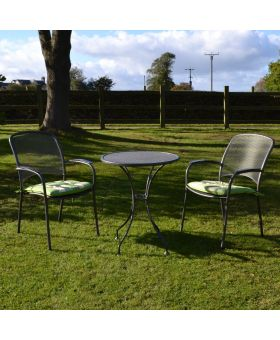 Royal Garden Carlo 2 Seater Steel Bistro Set