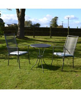Royal Garden Classic Highback 2 Seater Steel Bistro Set