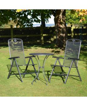 MWH Royal Garden Savoy 2 Seater Steel Folding Bistro Set