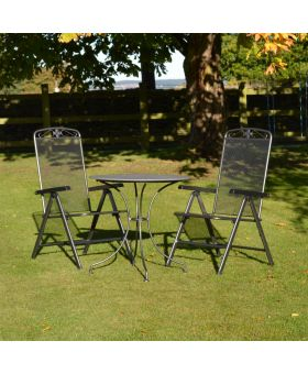 MWH Royal Garden Savoy 2 Seater Creatop Folding Bistro Set
