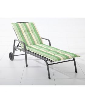 Royal Garden Savoy Lounger Cushion Green Stripe