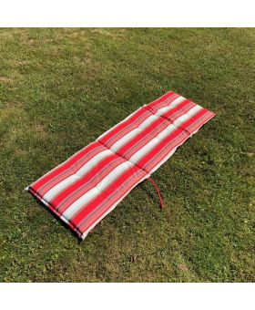 Royal Garden Savoy Lounger Cushion Red Stripe