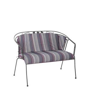 Royal Garden Elegance Bench Cushion Purple Stripe