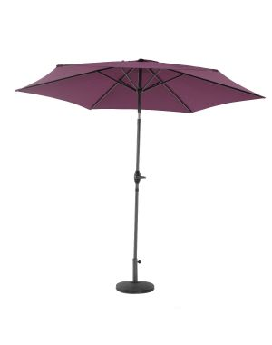 3m Alu/Steel Parasol - Purple