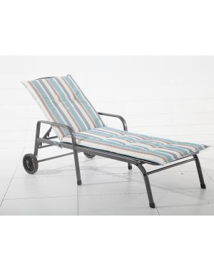 Royal Garden Savoy Lounger Cushion Teal Stripe